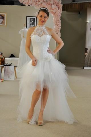 Robe de mariée Amanda - version courte par Les Mariées de Provence